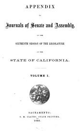Journals of the Legislature of the State of California: Volume 1