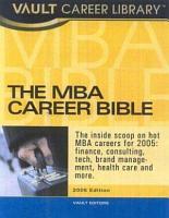 The Vault MBA Career Bible PDF