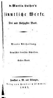 Dr. Martin Luther's sämmtliche Werke: Bände 53-54