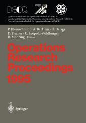 Operations Research Proceedings 1995: Selected Papers of the Symposium on Operations Research (SOR '95), Passau, September 13 – September 15, 1995