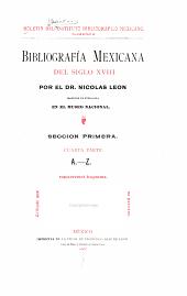 Bibliografía mexicana del siglo XVIII: Número 8