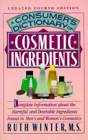 A Consumer s Dictionary of Cosmetic Ingredients PDF