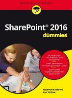 Microsoft SharePoint 2016 f  r Dummies PDF