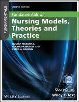 Fundamentals of Nursing Models  Theories and Practice  with Wiley E Text PDF