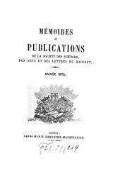 Mémoires et publications: Volume8