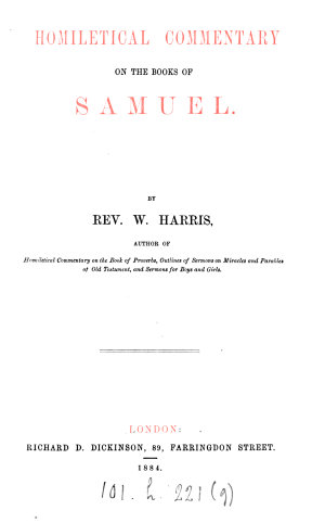 Homiletical commentary on the books of Samuel