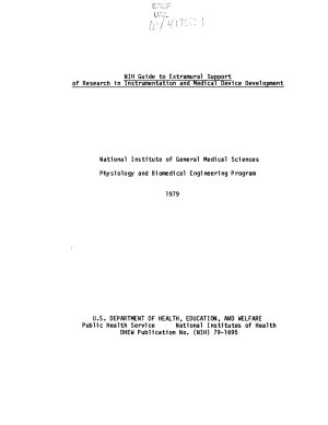 NIH Guide to Extramural Support of Research in Instrumentation and Medical Device Development PDF