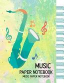 Music Paper Notebook Manuscript Paper