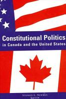 Constitutional Politics in Canada and the United States PDF