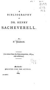 A Bibliography of Dr. Henry Sacheverell
