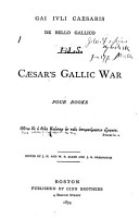 A Vocabulary of Caesar s Gallic War PDF