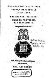 De providentia sermones decem (graece) nunc primum in lucem editi (cura Nicolai Maiorani).