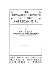 The Dowager Countess and the American Girl