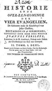 Historie ende over-een-kominge der vier Evangelien ...: Volume 3