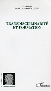 Transdisciplinarité et formation
