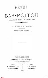 La Revue du Bas-Poitou et des Provinces de l'Ouest: Volume13