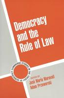 Democracy and the Rule of Law PDF