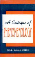 A Critique of Phenomenology PDF