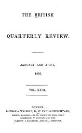 The British Quarterly Review: Volume 23