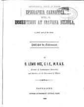 Epigraphia Carnatica: Rev. ed