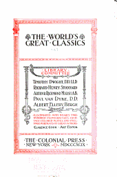 The World's Great Classics: Volume 27