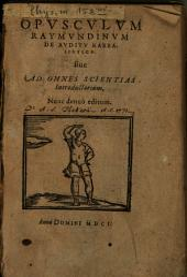 Opusculum Raimundinum de auditu Kabbalistico