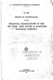 Report of Investigation of the Financial Transactions of the New York, New Haven & Hartford Railroad Company