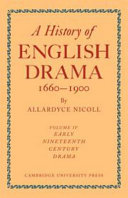 A History of English Drama 1660 1900  Volume 4  Early Nineteenth Century Drama 1800 1850 PDF