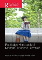 Routledge Handbook of Modern Japanese Literature PDF