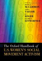 The Oxford Handbook of U  S  Women s Social Movement Activism PDF