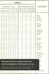 Resumen de las observaciones meteorológieas efectuadas en la península y algunas de sus islas adyacentes ... ordenado y publicado