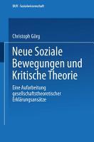 Neue Soziale Bewegungen und Kritische Theorie PDF