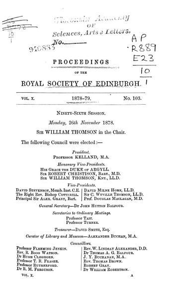 Download Proceedings of the Royal Society of Edinburgh Book