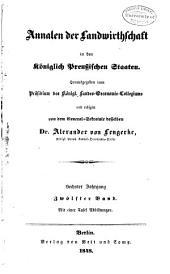 Annalen der Landwirtschaft in den königlich Preussischen Staaten: Band 12