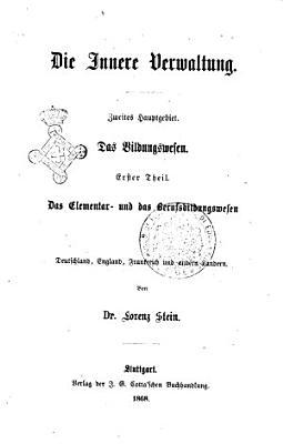 Die Verwaltungslehre von Lorenz von Stein PDF