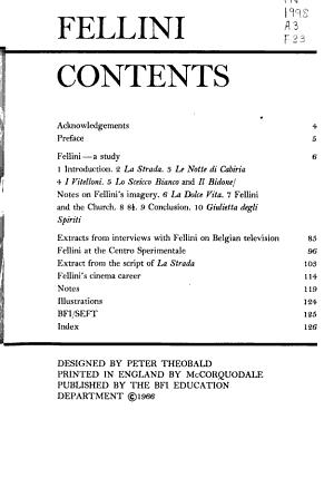 Fellini PDF