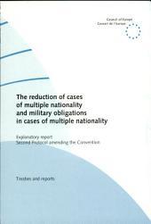 Réduction Des Cas de Pluralité de Nationalités Et Obligations Militares en Cas de Pluralité de Nationalités