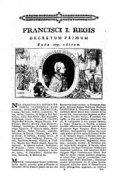 Francisci I. Regis Decretum Primum. Budae 1792. editum (Überschriftstitel)