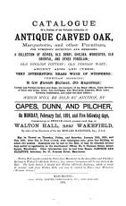 Catalogue of the Interesting Contents of Walton Hall  Near Wakefield PDF