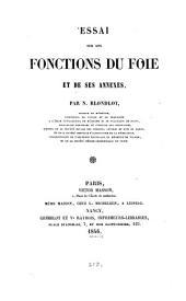 Essai sur les fonctions du foie et de ses annexes
