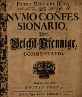 De numo confessionario ... commentatio