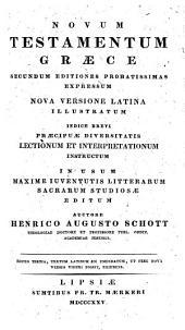 Novum Testamentum: nova versione latina illustratum