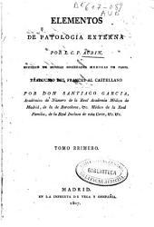 Elementos de patología externa: Volumen 1
