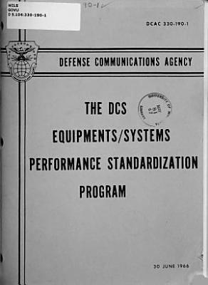 The DCS Equipments systems Performance Standardization Program PDF