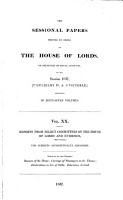 Reports from Select Committees of the House of Lords and Evidence PDF