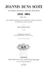 Opera omnia: Volume 25
