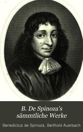 B. de Spinoza's Saemmtliche Werke