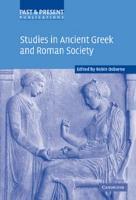 Studies in Ancient Greek and Roman Society PDF