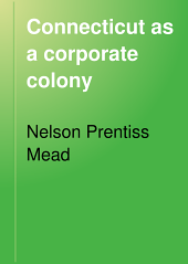 Connecticut as a Corporate Colony