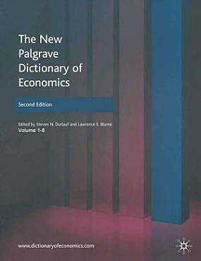 The New Palgrave Dictionary of Economics PDF